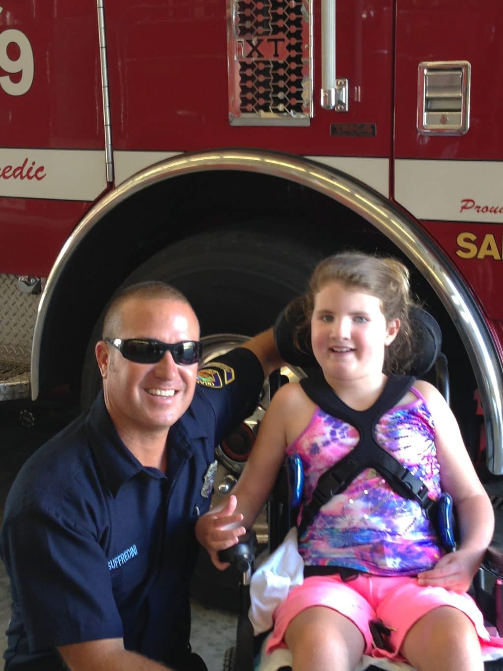 Lily-visits-firestation