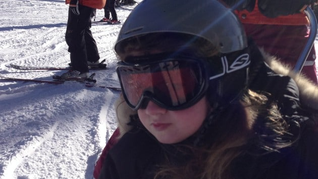 Lily skiing 2 2.14